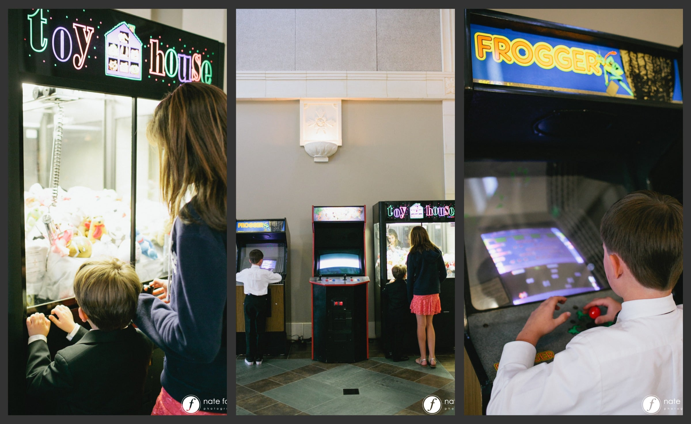 arcade games collage