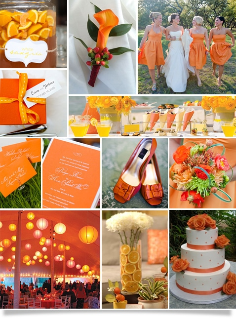 Memorable wedding orange wedding decor for every season if you are looking for a color that can add flair to your wedding take a look at orange either on its own or in conjunction with an other color junglespirit Choice Image