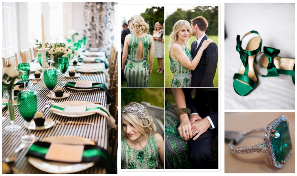 emerald wedding