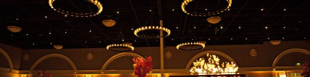 30 Candle Iron Chandeliers and GOBO Washes
