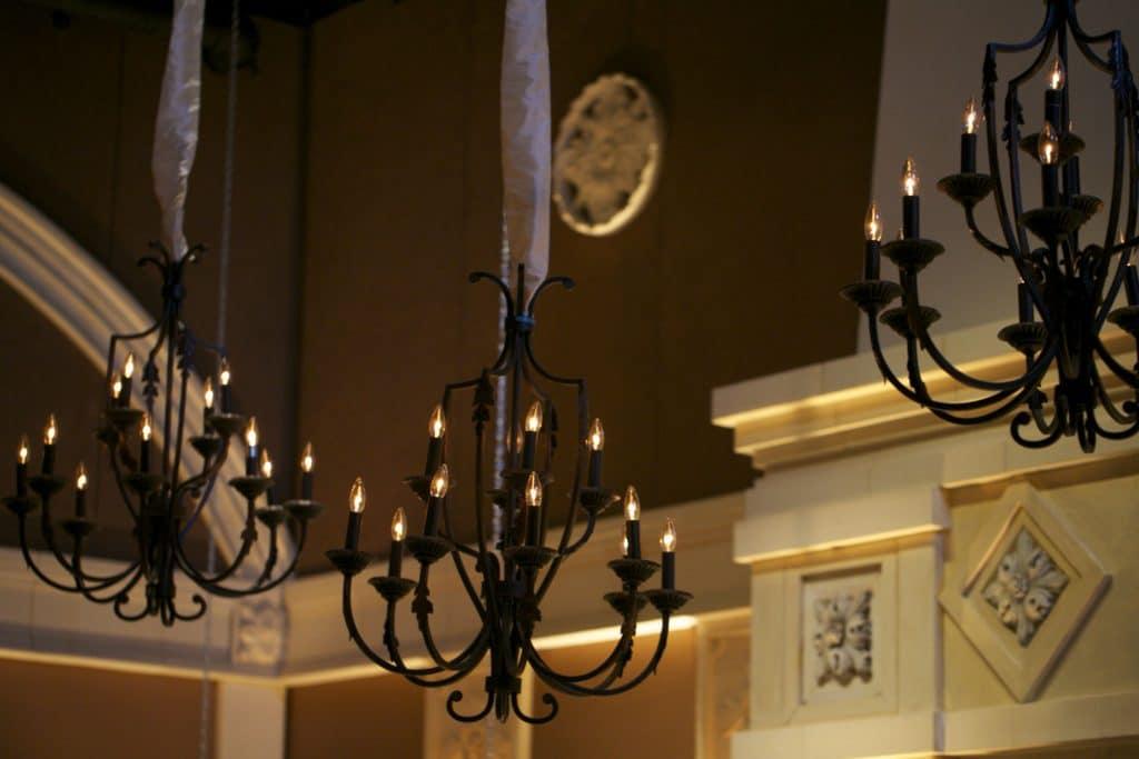 12 Light Antique Rust Chandeliers
