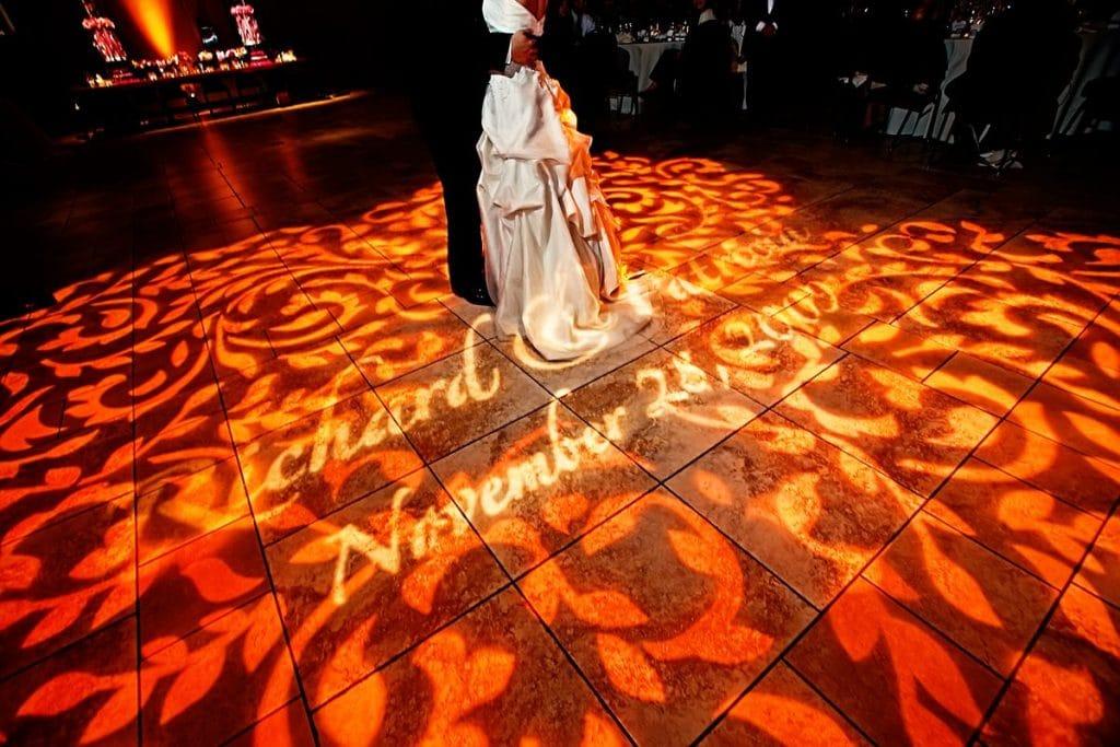 Dance Floor GOBO Washes and a Custom Monogram GOBO