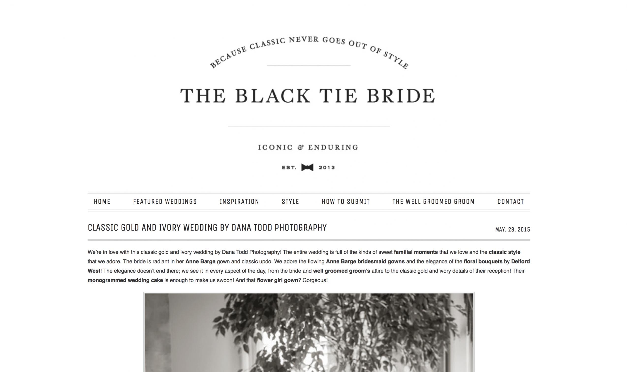 Black Tie Bride