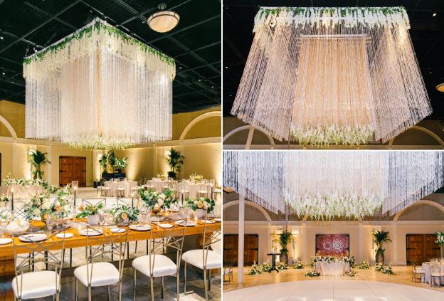 crystal beaded chandelier